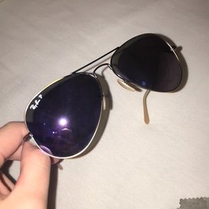 Ray-Ban Accessories - Ray Bans Purple lense with gold rim